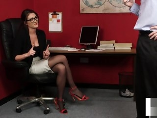 office Office beauty instructing wanking sub beauty