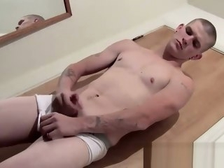 sexy Sexy bald Lex stroking his fat pole in his underwear bald