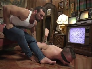 restrained Restrained submissive stud gets punished submissive