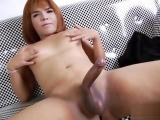 ladyboy Ladyboy Evesa Having Some Fun With Her Cock evesa
