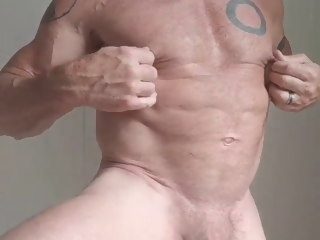 hunk hunk muscle old man with huge cock muscle