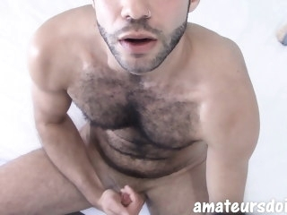hairy Hairy amateur jock beats uncut meat in amateur masturbation amateur