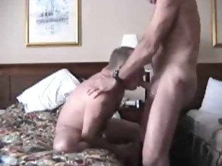 daddy Daddy fucks boy's mouth and makes him swallow his cum fucks