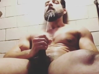 muscle Muscle Horny Guy Shoots His Hot Load After Gym horny
