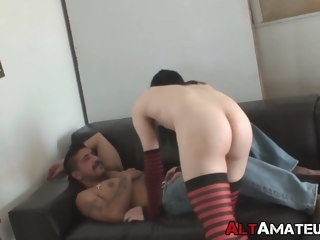 skinny Skinny alt homo sucks cock before being drilled in the ass homo