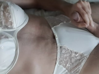 cd CD Masturbating and cumming wearing Lingerie masturbating