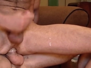 gets Man gets cum fucked out of him cum