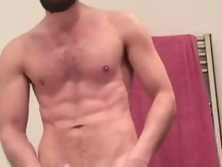 jerking Jerking And Shooting A Massive Load Before Shower shooting