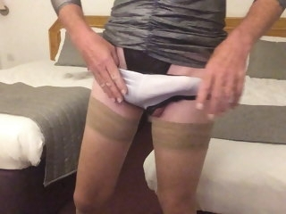 cross Cross dresser Paula Jerking Cock to Completion dresser