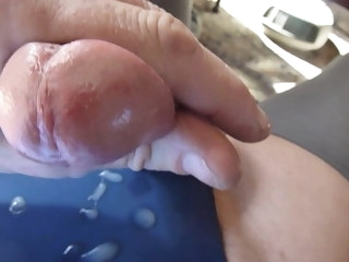 stained cum