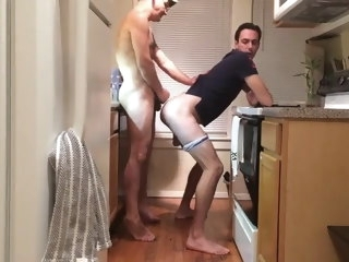 daddy Daddy fucks in kitchen fucks