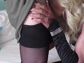 mature Mature blond tgirl fucks a beautyfull blond tgirl blond