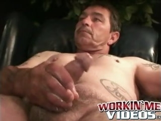 inked Inked mature stud teases with butthole in wanking solo mature