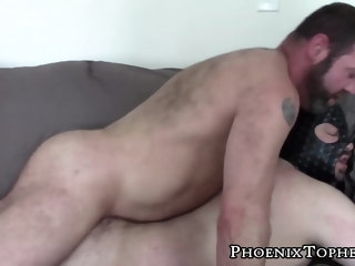 mischievous Mischievous bear in mask rides raw cock bareback and cumshot bear