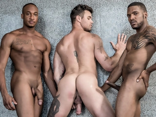sizzling Yet another Sizzling BBC + White Threesome of Gay Performers bbc