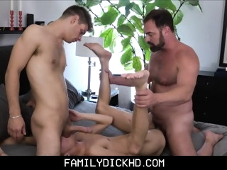 bear Bear Stepdad Threesome With Hot Jock And Twink Stepsons stepdad