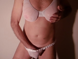 cum Cum in sheer lingerie sheer