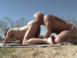 hairy Hairy silver fox has sex with a very sexy young jock silver