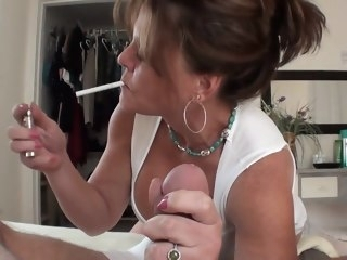 cougar Cougar Smoking Handjob smoking
