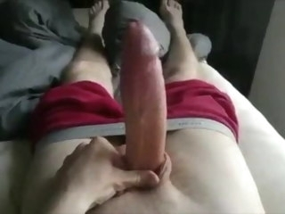 cock Very big white cock grows and shoots huge load grows