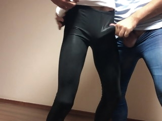 azeri Azeri cum on leggings bulge. azerilasin baku cum