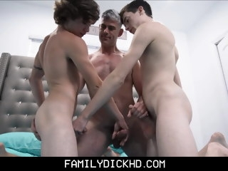 stepdad Stepdad And Twink Stepson Threesome With Young Neighbor Boy twink