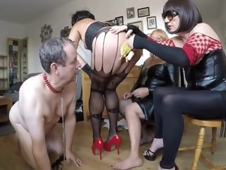 humiliated Humiliated by 3 crossdressers crossdressers
