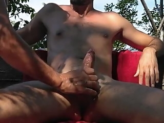 getting Getting my cock stroked by nudist cock